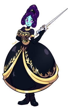 COMM - Princess Nova Starlight black dress