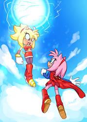 COMM - Super Sayian Amy vs Super Girl Amy
