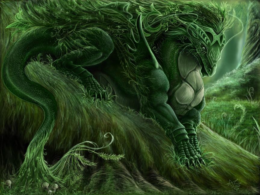 The Forest Spirit by DragginCat