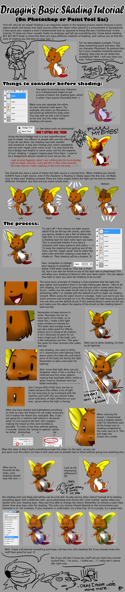 Shading Tutorial by DragginCat