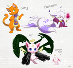 OC Batch 6: All my (female) Cat Characters
