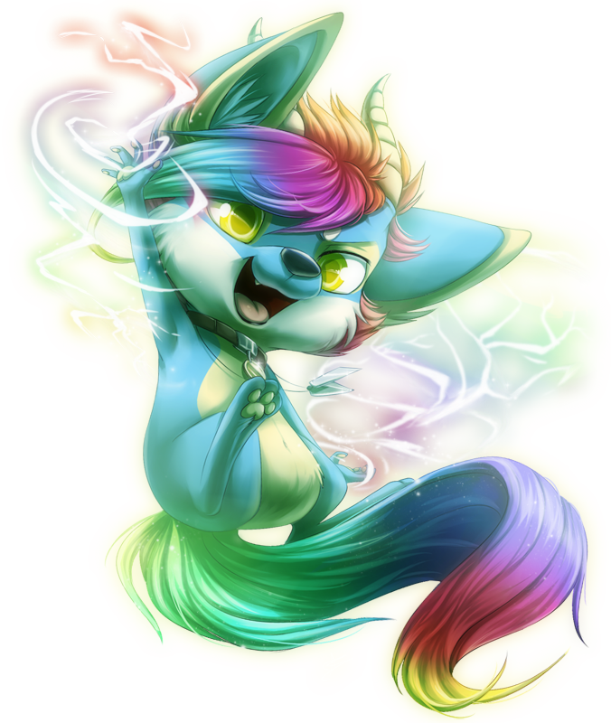 Com: Rainbow Sparks by DragginCat