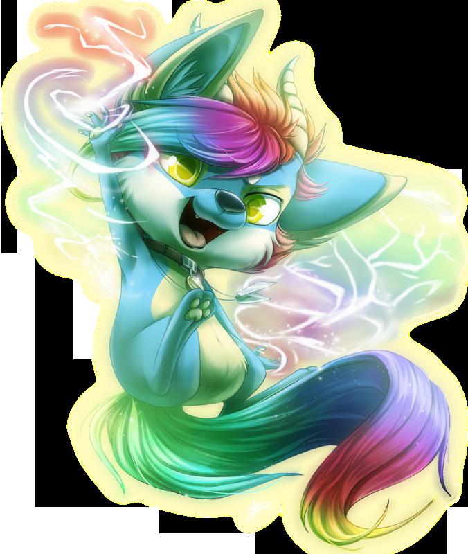 Com: Rainbow Sparks by DragginCat
