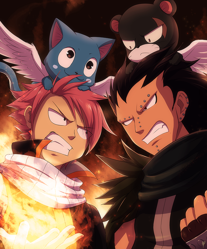 Fairy Tail Gajeel Cat FF: Natsu and Gajeel b...