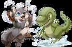 Com: Wolf and Dino