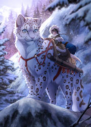 Big Cat Zine: Snow Leopard by Seyumei