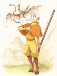 Aang and Momo