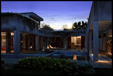 'Old Villa' Sunset by ryb-benjamin