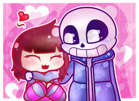 Sans and Frisk by CutiePachiMelody