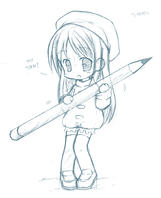 Chibi pencil by CatPlusAnime Chibi Cat Drawings