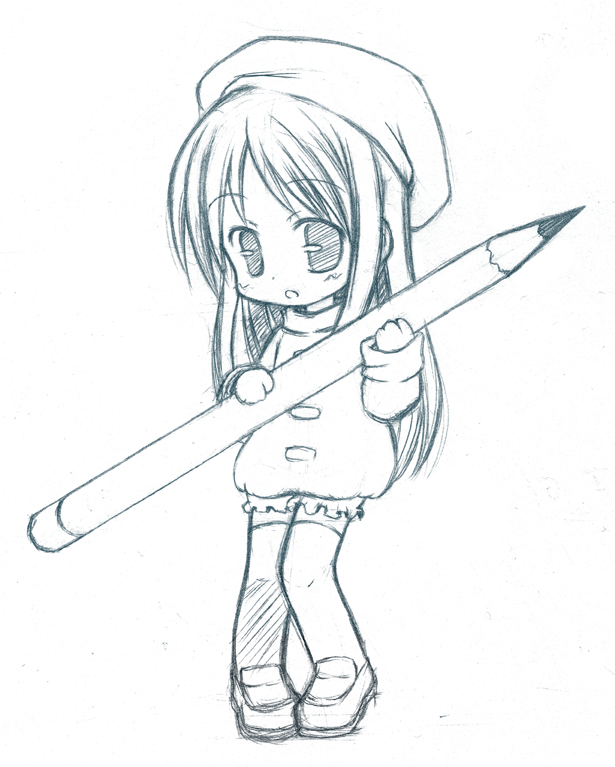 Chibi Pencil cleared by CatPlusAnime Chibi Cat Drawings