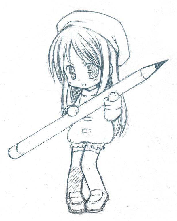 Chibi pencil cleared by catplus
