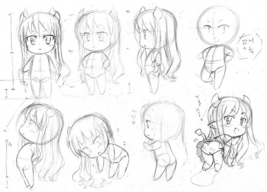Inside Out How To Draw Chibi Anime Characters Sketch