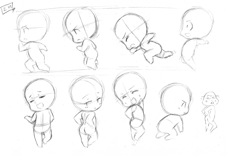 Chibi Body Template Pictures