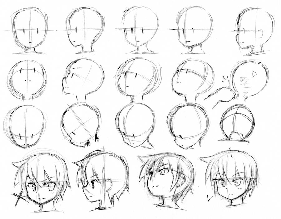 как рисовать лица аниме картинки