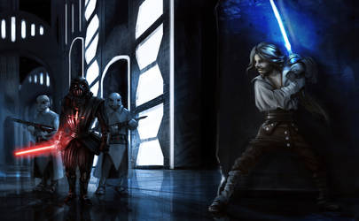 Star wars re-imagined: Darth and Luke-Man in the I by Mcreation4102
