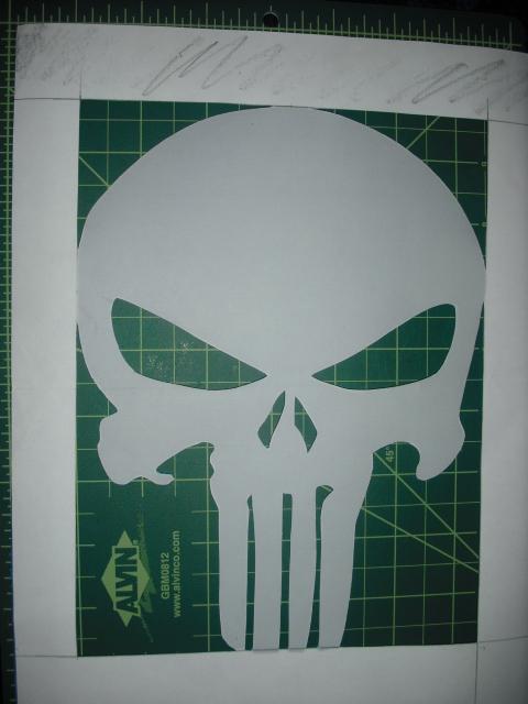 Punisher Stencil by Stencil-Borg