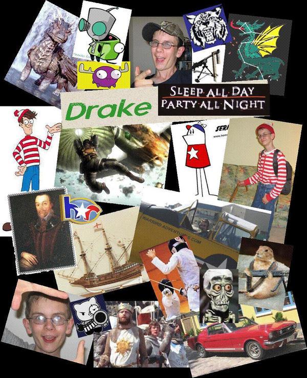 Drake 39 s collage by eldraque93 on deviantart - Drake collage wallpaper ...