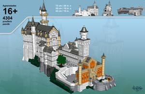 LEGO Neuschwanstein by JNLN