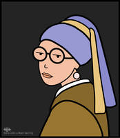 Daria with a Pearl Earring by JNLN