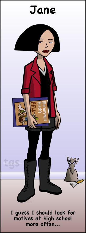 Jane bookmark by JNLN