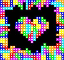 Tetris Heart by TheLonelySpringtrap
