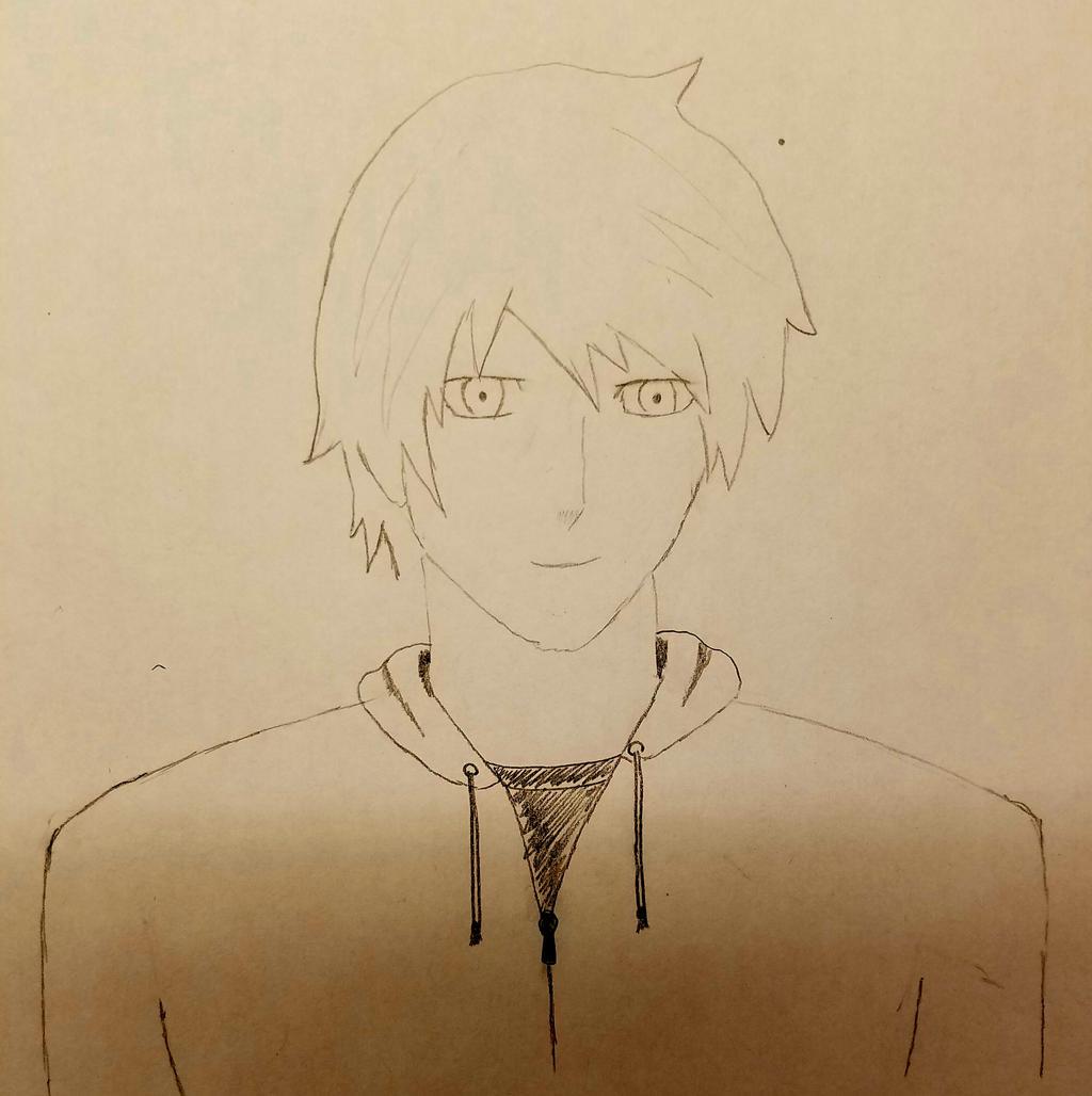 RWBY OC: Greyson Skye (sketch) by TeamGRAE