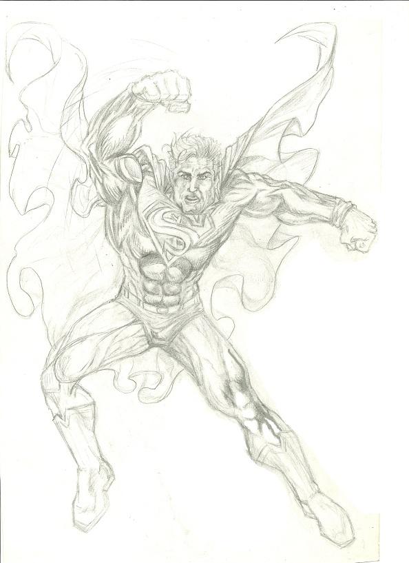 superman 2 pencil sket...