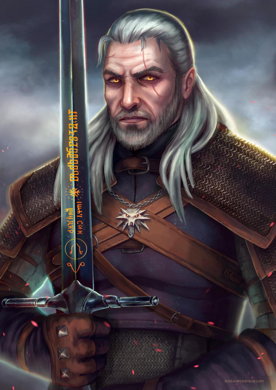 Geralt of Rivia fanart by RocioRodriguez