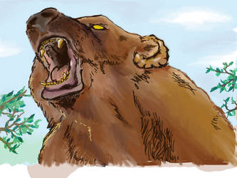 Ursa Rumble - My first ever Graphics Tablet drawin