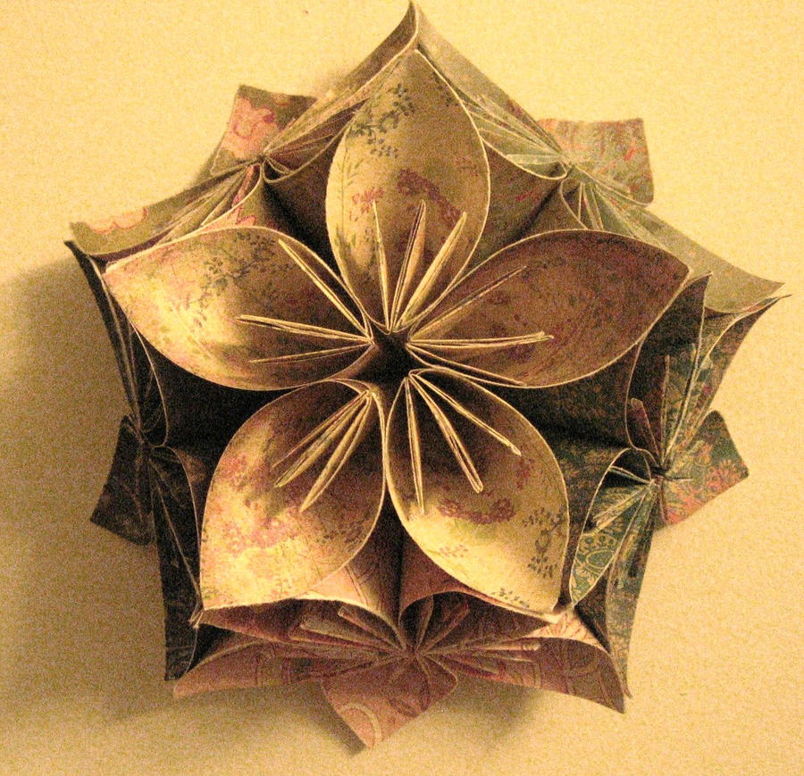 origami flower wall hanging by lynkshadow on deviantart