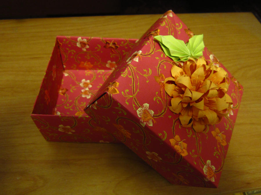 Red fancy origami box by lynkshadow on DeviantArt - photo#36