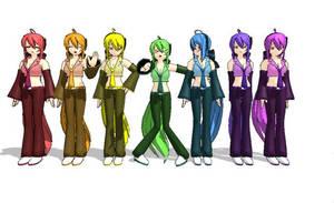 MMD DL: Rainbow Haku