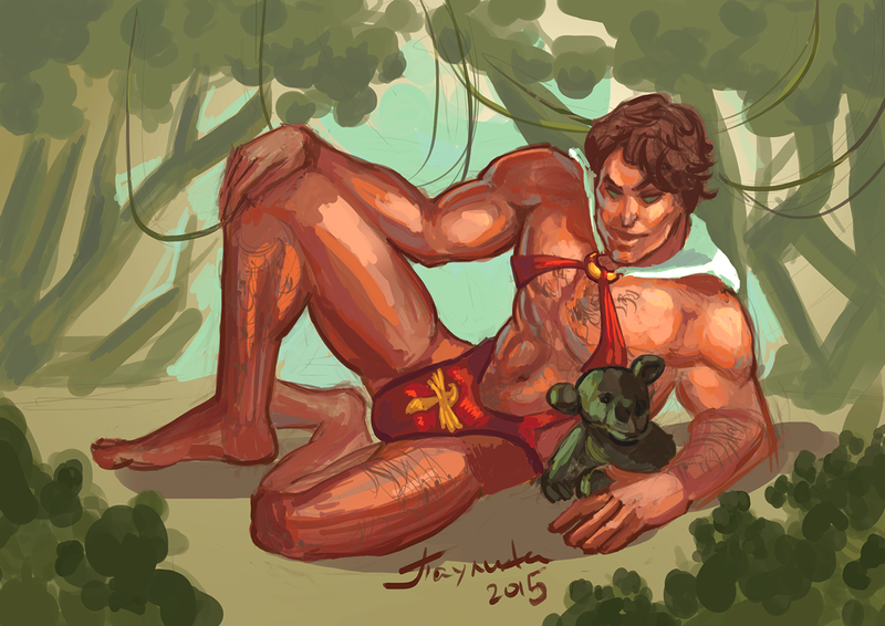Tarzan bringing the Mankini back, Vampirella style by pauscorpi