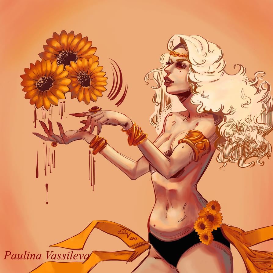 SunflowerLady by pauscorpi