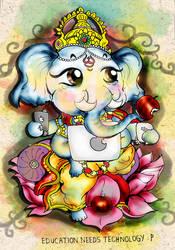 shree ganesh - apples by art-rinay