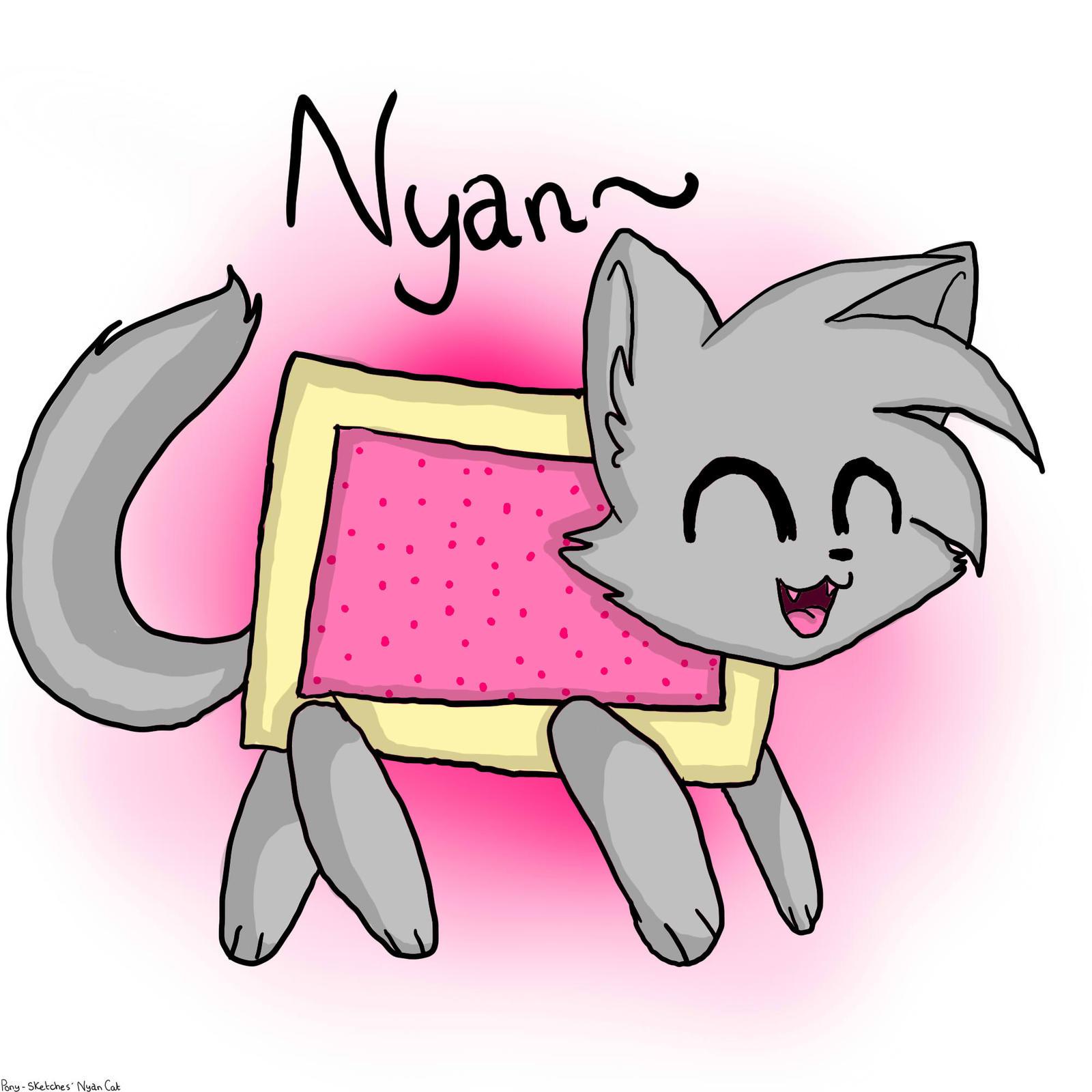how to draw nyan cat girl