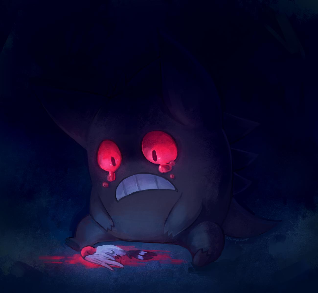 Gengar, the Shadow Pokemon by slurpoof on DeviantArt