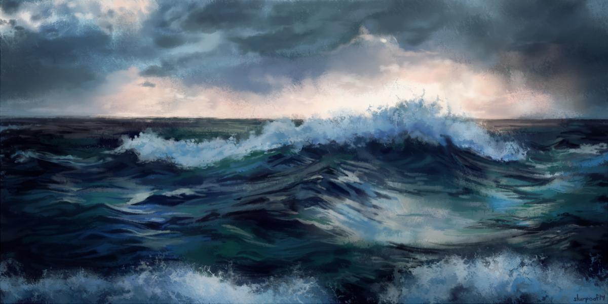 Ocean Painting by slurpoof