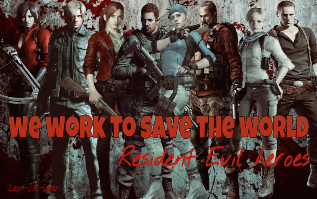 Resident Evil heroes by Leon-Jill-lover