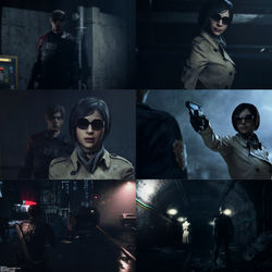 Resident Evil 2 : Leon Kennedy and Ada Wong
