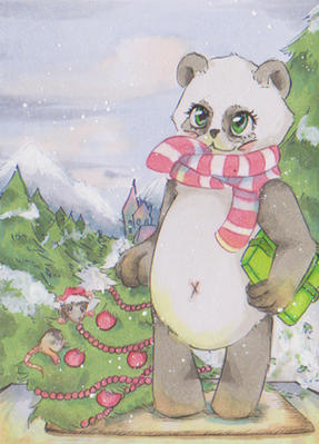 Mr Panda - merry christmas by uniquorned
