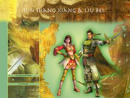 Sun Shang Xiang and Liu Bei by kyokosan