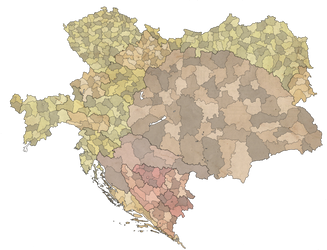 Administrative map of Austria Hungary in 1914 by dsfisher