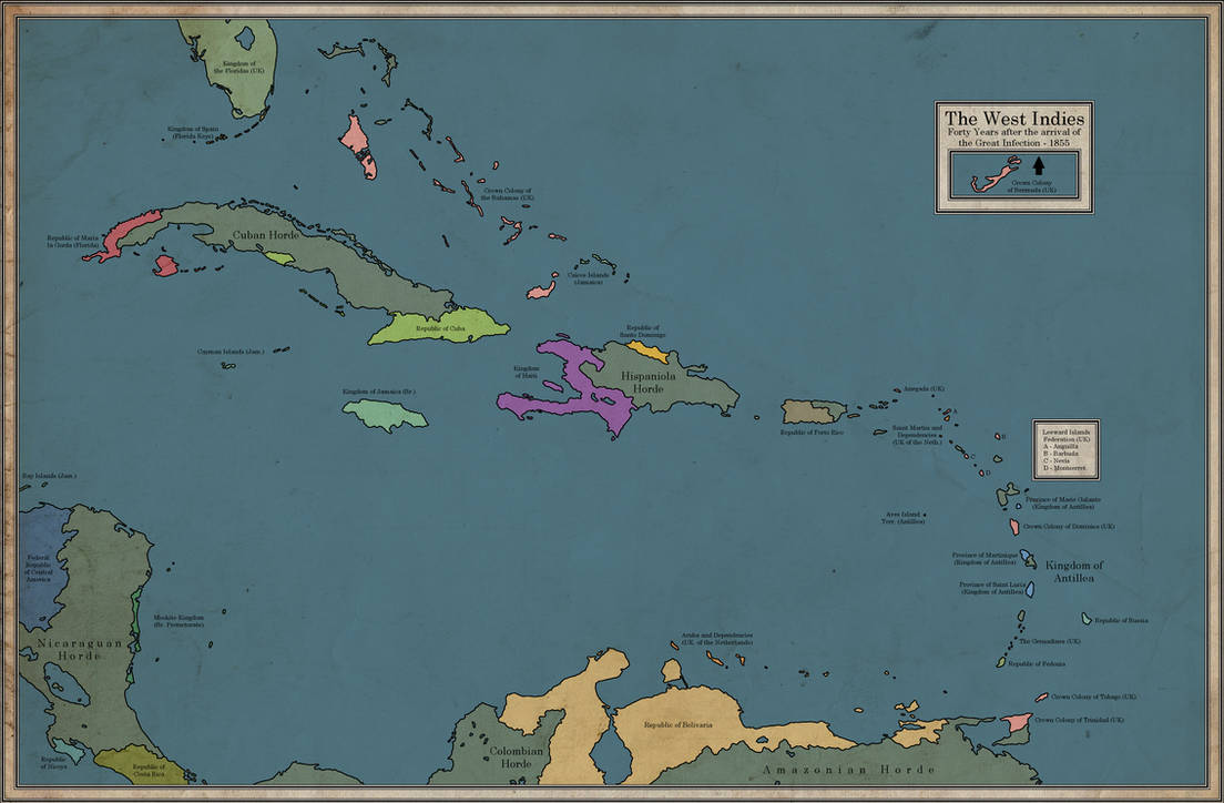 The West Indies in an era of Victorian Zombies by dsfisher