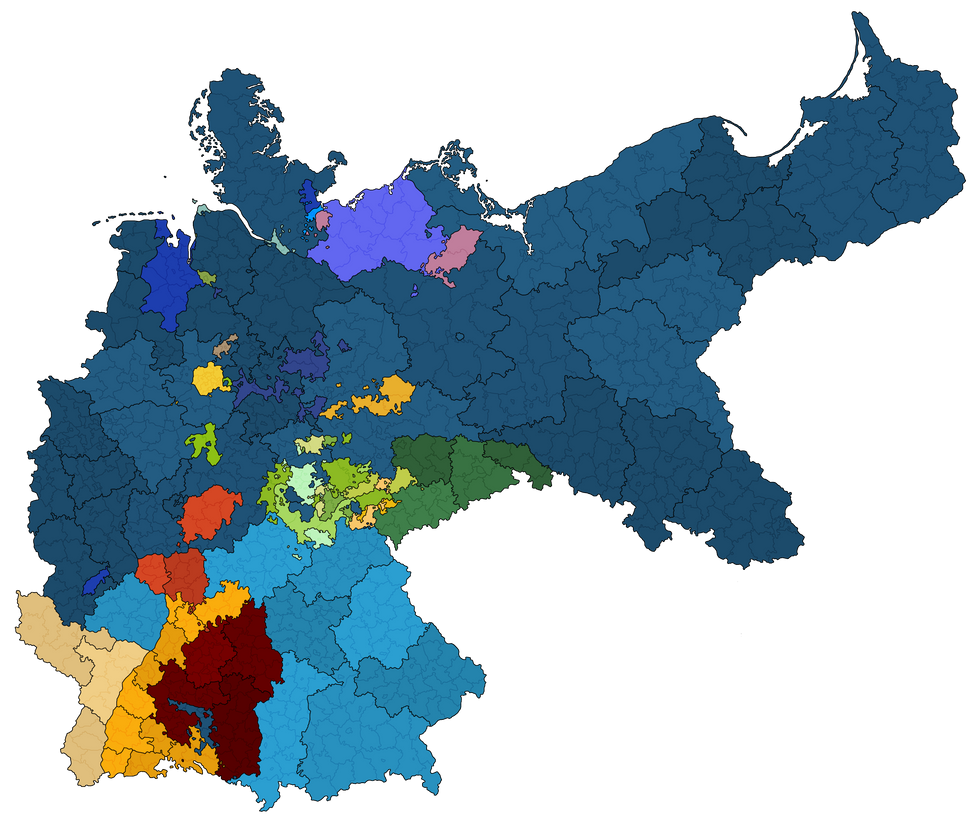 Administrative map of the German Empire in 1900 by dsfisher