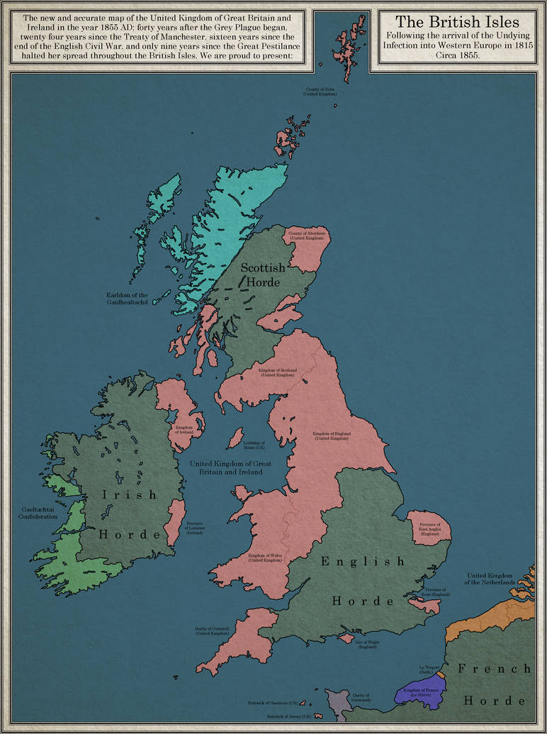 The British Isles in a world of Victorian Zombies by dsfisher