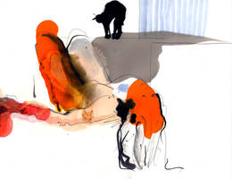 Nude and Cat by tombennett