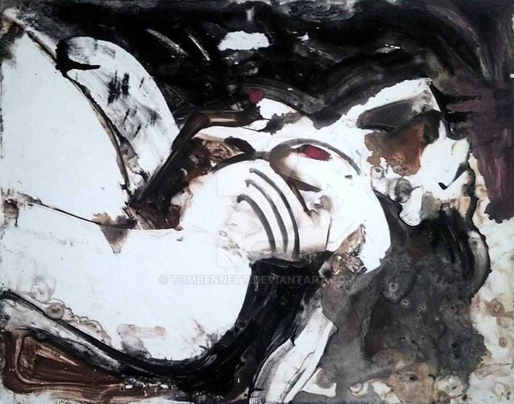 Hypnos 1 monotype underpainting by tombennett
