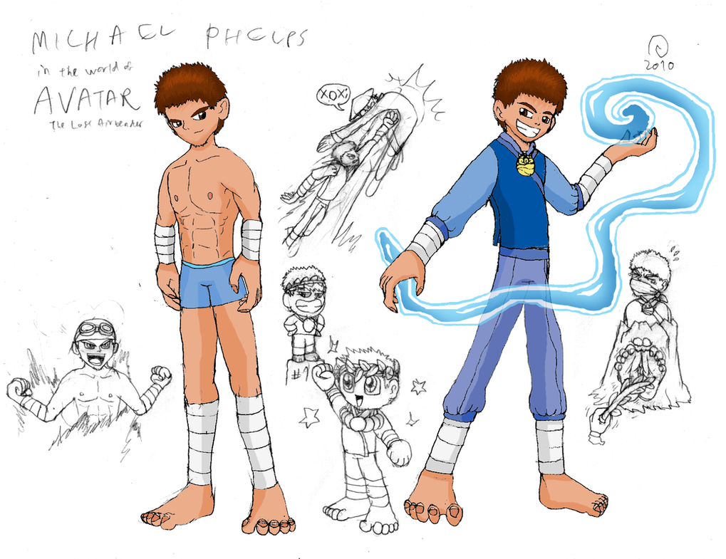 Michael Phelps in the Avatar Universe by Shadow-Aspect